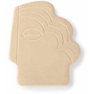 HKliving - Face Wall Ornament S Shiny Taupe