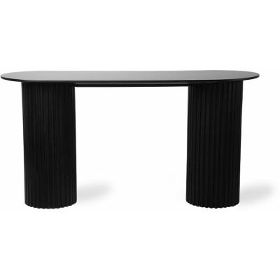 HKliving - Pillar Side Table Oval Black