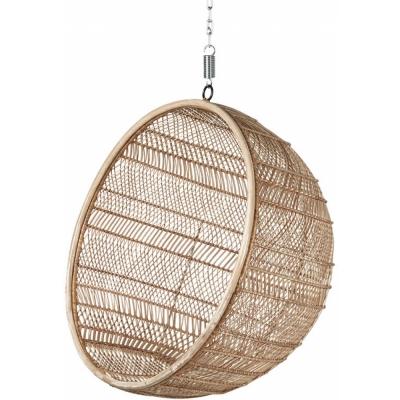 HKliving - Rattan Hanging Bowl Chair Natural Bohemian