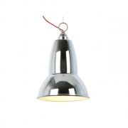 Anglepoise - Duo Maxi Pendant Lamp Chrome (Cable: Red)