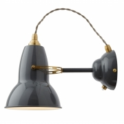 Anglepoise - Original 1227 Brass Wall Lamp Elephant Grey