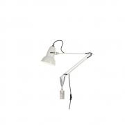 Anglepoise - Original 1227 Leuchte mit Wandmontage Linen White (Kabel: Grau)