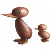 ArchitectMade - Duck & Duckling Holzfiguren