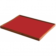ArchitectMade - Turning Tray Tablett 51 x 38 cm | Schwarz/Rot