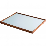 ArchitectMade - Turning Tray Tablett 51 x 38 cm | Schwarz/Hellblau
