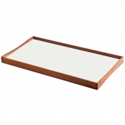 ArchitectMade - Turning Tray Tablett 45 x 23 cm | Schwarz/Weiß