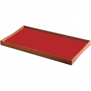 ArchitectMade - Plateau Turning Tray 45 x 23 cm | Noir/Rouge