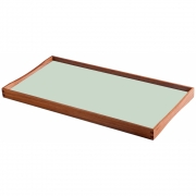 ArchitectMade - Turning Tray Tablett 45 x 23 cm | Schwarz/Mintgrün