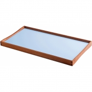 ArchitectMade - Turning Tray (45 x 23 cm) | Black/Bright blue