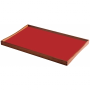 ArchitectMade - Turning Tray Tablett 48 x 30 cm | Schwarz/Rot