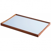 ArchitectMade - Turning Tray (48 x 30 cm) | Black/Bright blue
