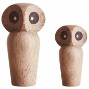 ArchitectMade - Owl Eule Holzfigur Klein | Eiche geräuchert