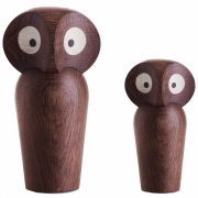 ArchitectMade - Owl Wooden Figure Large | Oak smoked