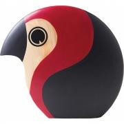 ArchitectMade - Discus oiseau en bois Grand - Rouge