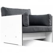 Conmoto - Riva Lounger Sessel Weiß | Anthrazit