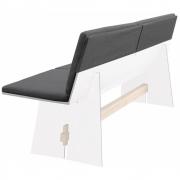 Conmoto - Kissen für Tension Bank Sitz- und Rückenkissen (Anthrazit)