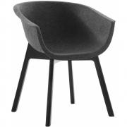 Conmoto - Chairman Chair Oak Black lacquered
