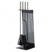 Conmoto - Teras Kaminbesteck Stahl schwarz