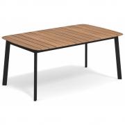 Emu - Shine Tisch rechteckig 166 cm | Schwarz / Teak