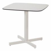 Emu - Shine Tisch quadratisch Schwarz / Mattweiß