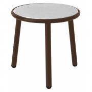 Emu - Yard Table d'appoint rond 50 cm | Brun Indien / Acier inoxydable