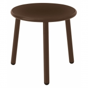 Emu - Yard Table d'appoint rond 50 cm | Brun Indien