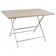 Emu - Arc En Ciel Table pliable rectangulaire 110 x 70 cm   Taupe