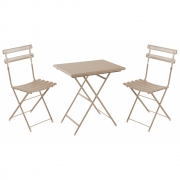 Emu - Arc En Ciel Folding Chair and Table Set Taupe