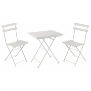 Emu - Arc En Ciel Folding Chair and Table Set Matte White