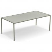 Emu - Terramare rechteckiger Tisch mit Platte aus Steinzeug Grau/Grün - Greige