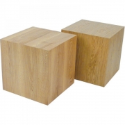 Jan Kurtz - Block Hocker Eiche 45 x 45 x H 46 cm
