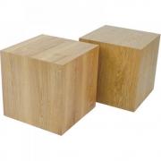 Jan Kurtz - Block Hocker Eiche 50 x 50 x H 50 cm
