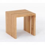 Jan Kurtz - Cubus Stool Oak | 42 x 42 x 42 cm