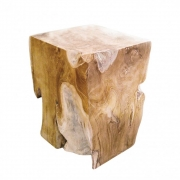 Jan Kurtz - Block Hocker Teak eckig