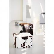 Jan Kurtz - Cheyenne pouf peau de vache (fabrication spéciale) 42 x 40 x 40 cm