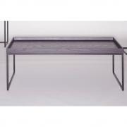 Jan Kurtz - Pizzo Couchtisch 110 x 60 cm | Esche wenge | Lunasilber