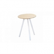 Jan Kurtz - Pit Side Table Ø 35 cm Walnut | H 51 cm; white