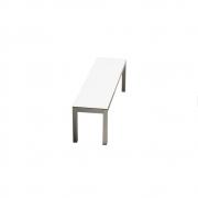 Jan Kurtz - Quadrat Bank 165 cm (Aluminium)   Teak