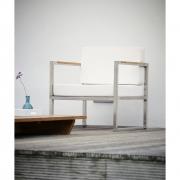 Jan Kurtz - Lux Lounge Armlehnsessel Schwarz | Edelstahl
