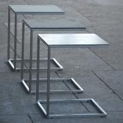 Jan Kurtz - Pizzo Beistelltisch Keramik Offen | Grau