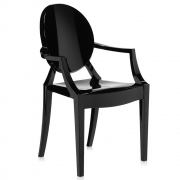 Kartell - Lou Lou Ghost Child's chair Black shiny