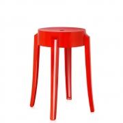 Kartell - Charles Ghost stool 46 cm   Kartell red