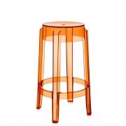 Kartell - Charles Ghost Hocker 65 cm | Orange