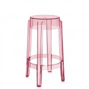 Kartell - Charles Ghost stool 65 cm   Rose