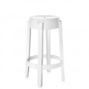 Kartell - Charles Ghost stool 65 cm   White shiny