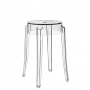 Kartell - tabouret Charles Ghost 46 cm | Cristal Clair