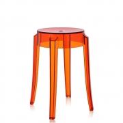 Kartell - Charles Ghost stool 46 cm   Orange