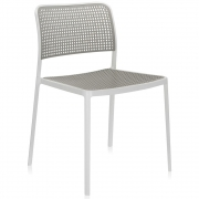 Kartell - Audrey Cadeira Branco - Cinzento Claro