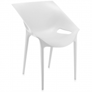 Kartell - Dr Oui Chaise blanc
