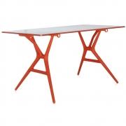 Kartell - Spoon Table Tisch 160 x 80 cm   Weiß-Orange